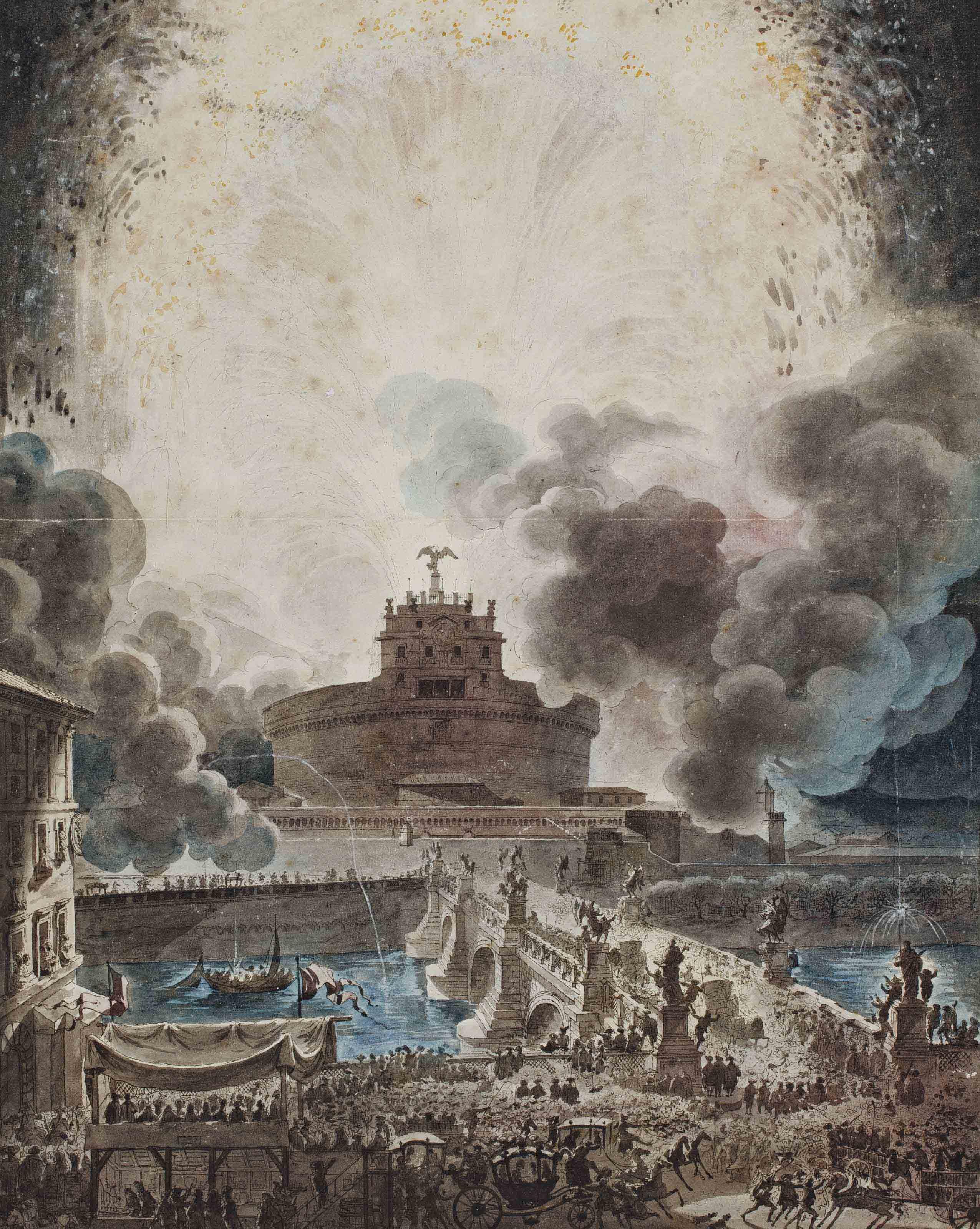La Girandola au Castel Sant'Angelo à Rome