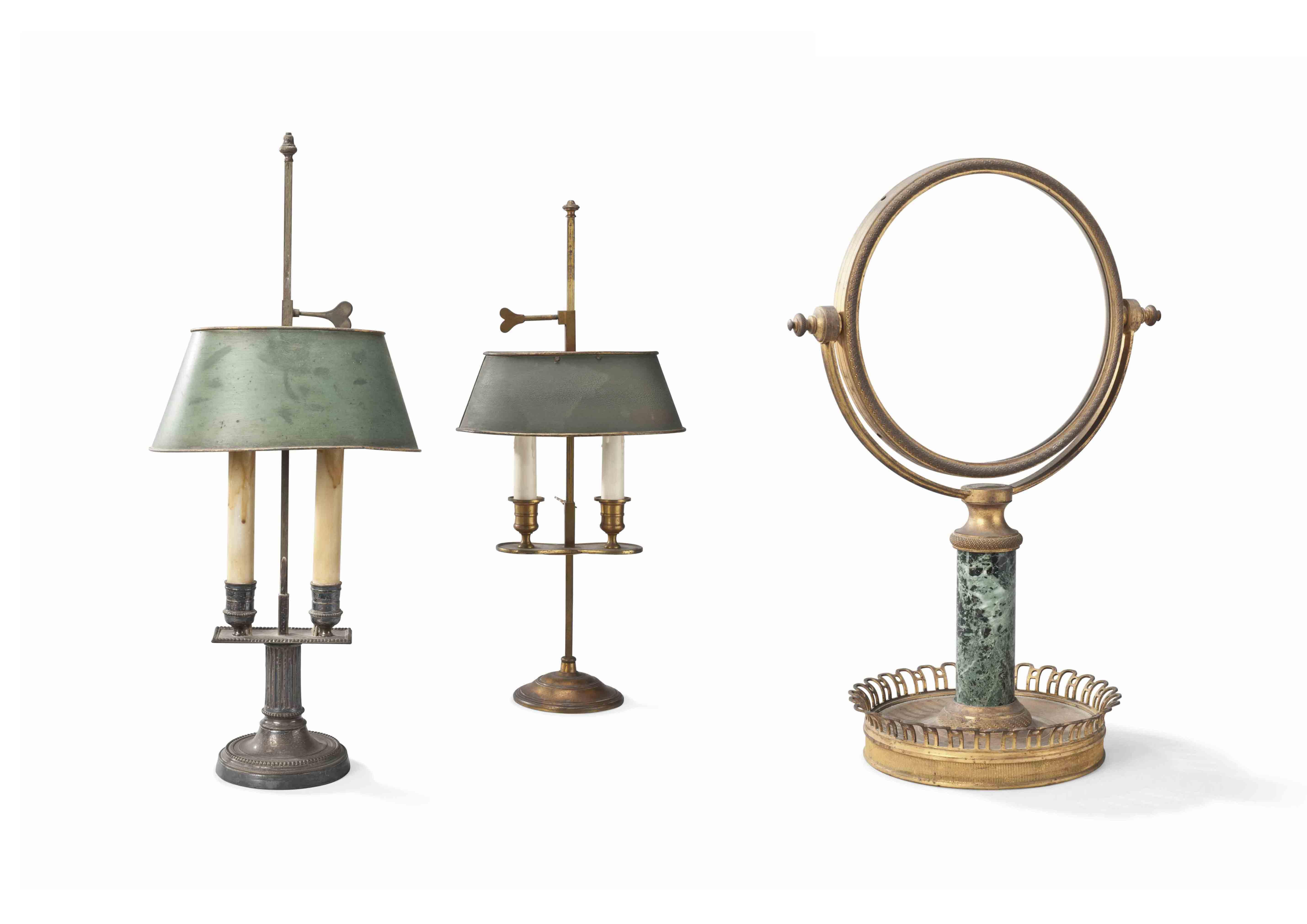 DEUX LAMPES BOUILLOTTE DE STYLE NEOCLASSIQUE