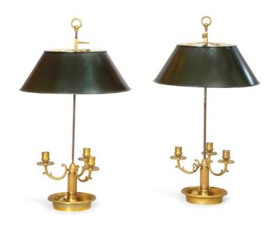PAIRE DE LAMPES BOUILLOTTE DE
