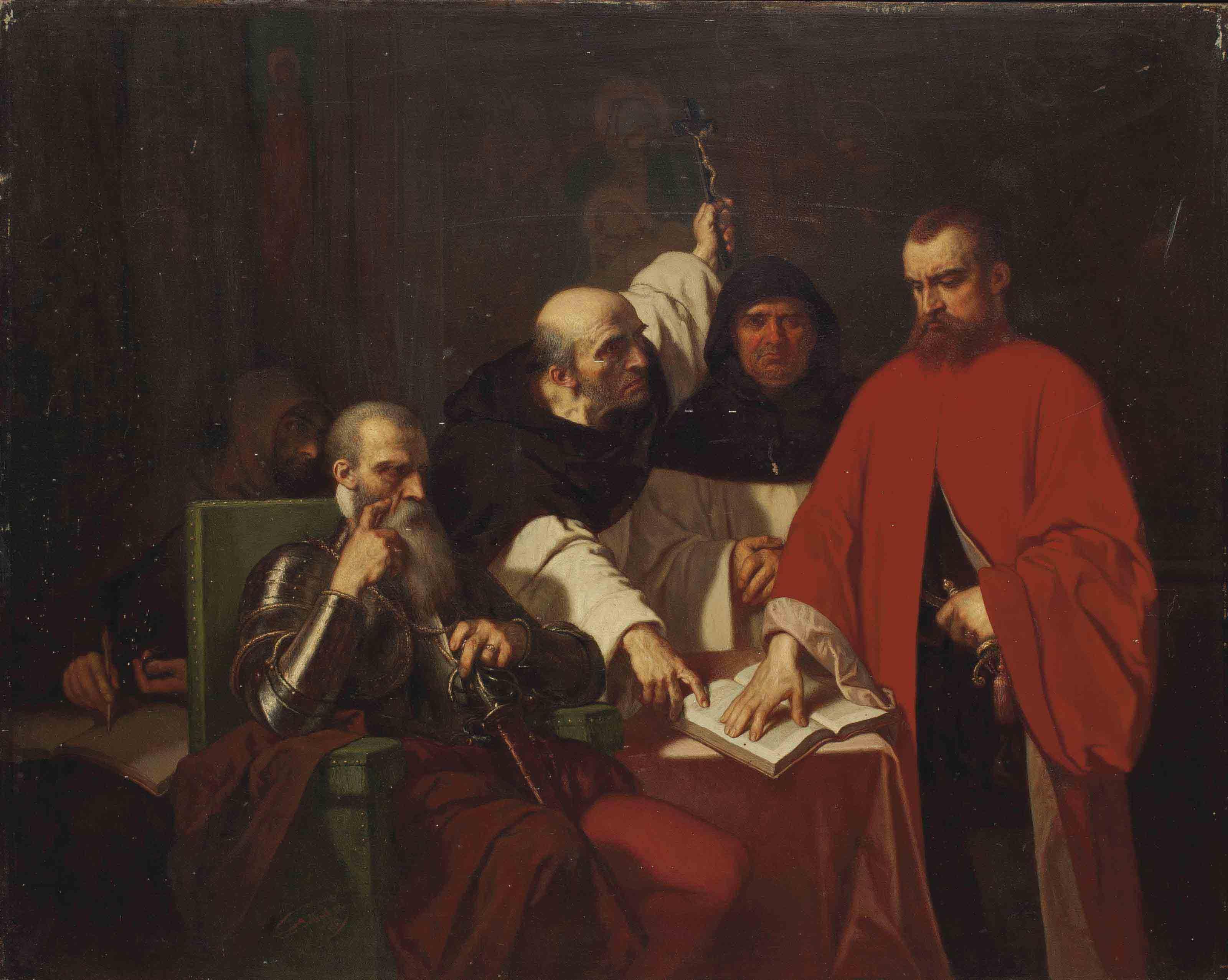 Le serment de Vargas devant le duc d'Albe