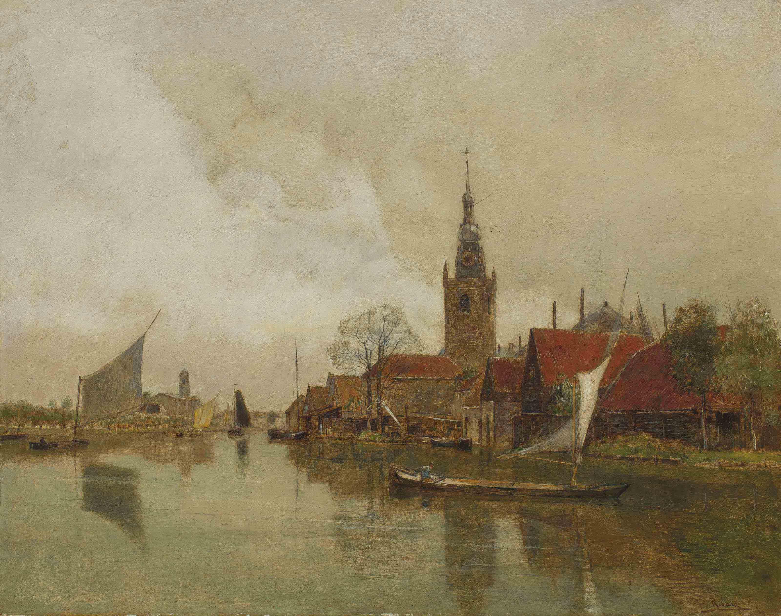 La Schie à Overschie dans la municipalité de Rotterdam