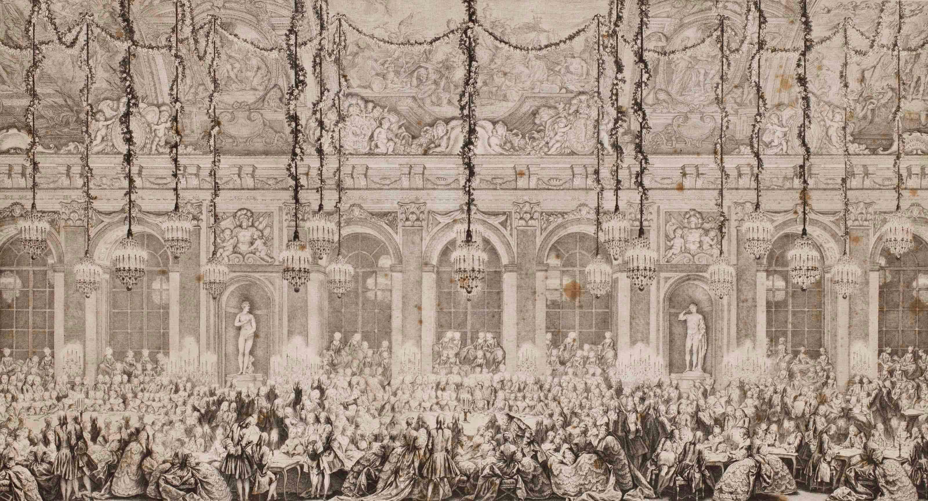 Soirée de jeux à la Cour française