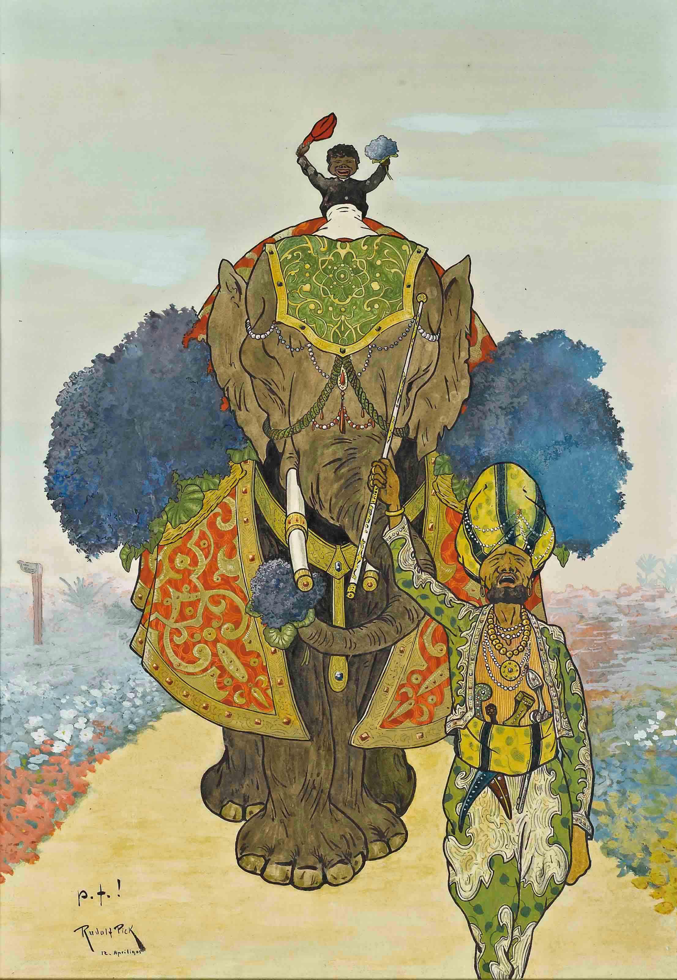 Eléphant en procession
