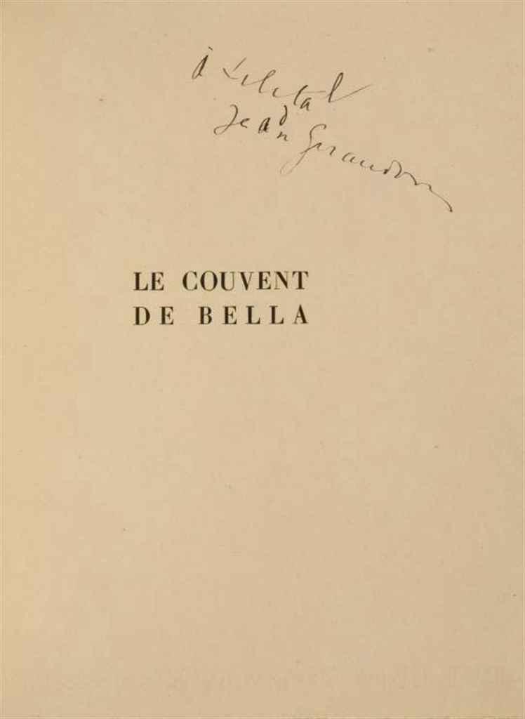 GIRAUDOUX, Jean (1882-1944). Le Couvent de Bella. Paris: Bernard Grasset, 1925.
