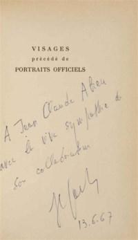 [WOLS] -- SARTRE, Jean-Paul (1905-1980). Visages précédés de portraits officiels. Paris: Seghers, 1948.