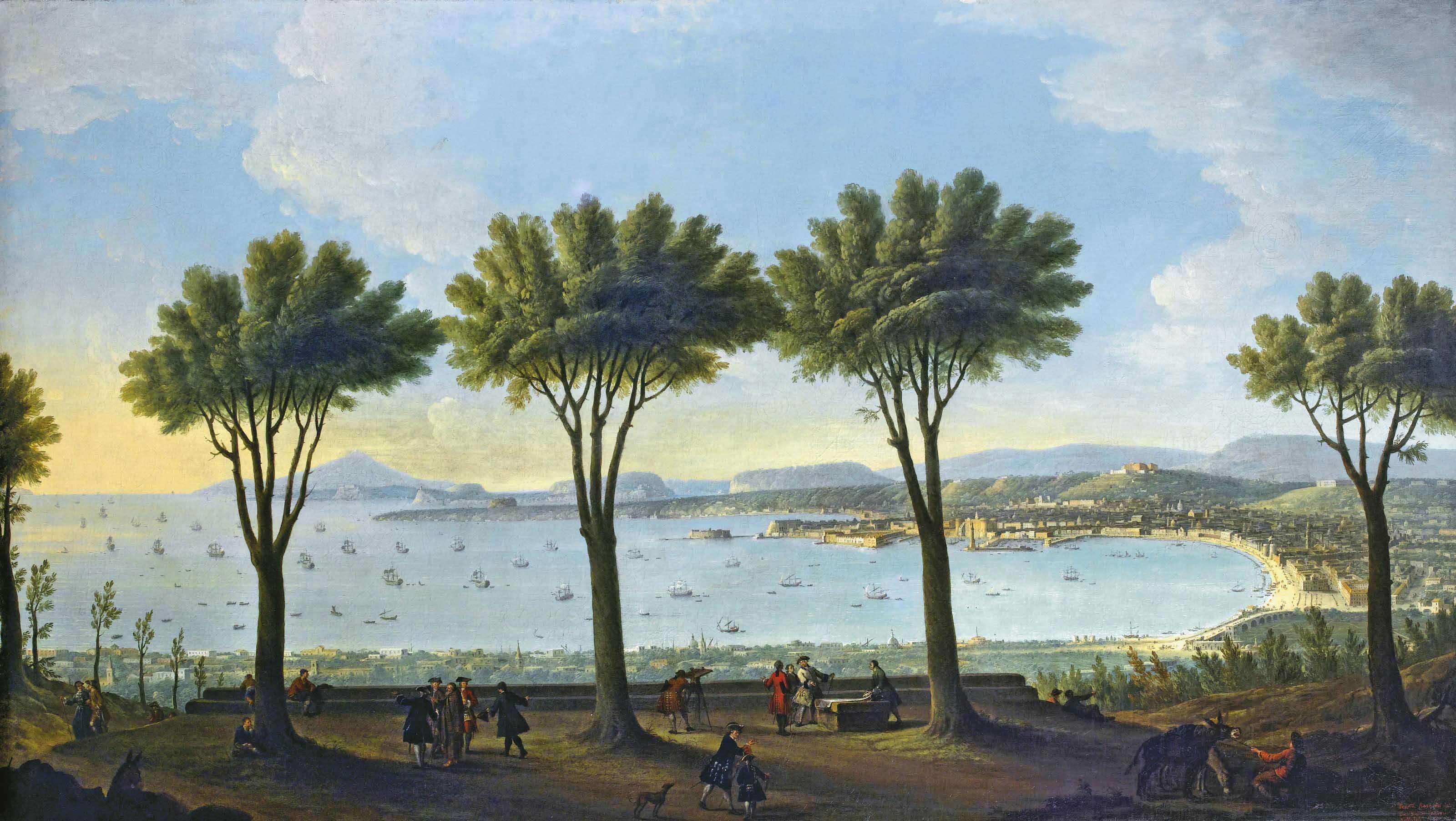 Antonio Joli Modena 1700 1777 Napoli Veduta Di Napoli