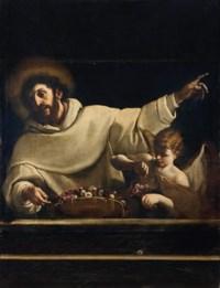 San Bernardo da Chiaravalle e un angelo