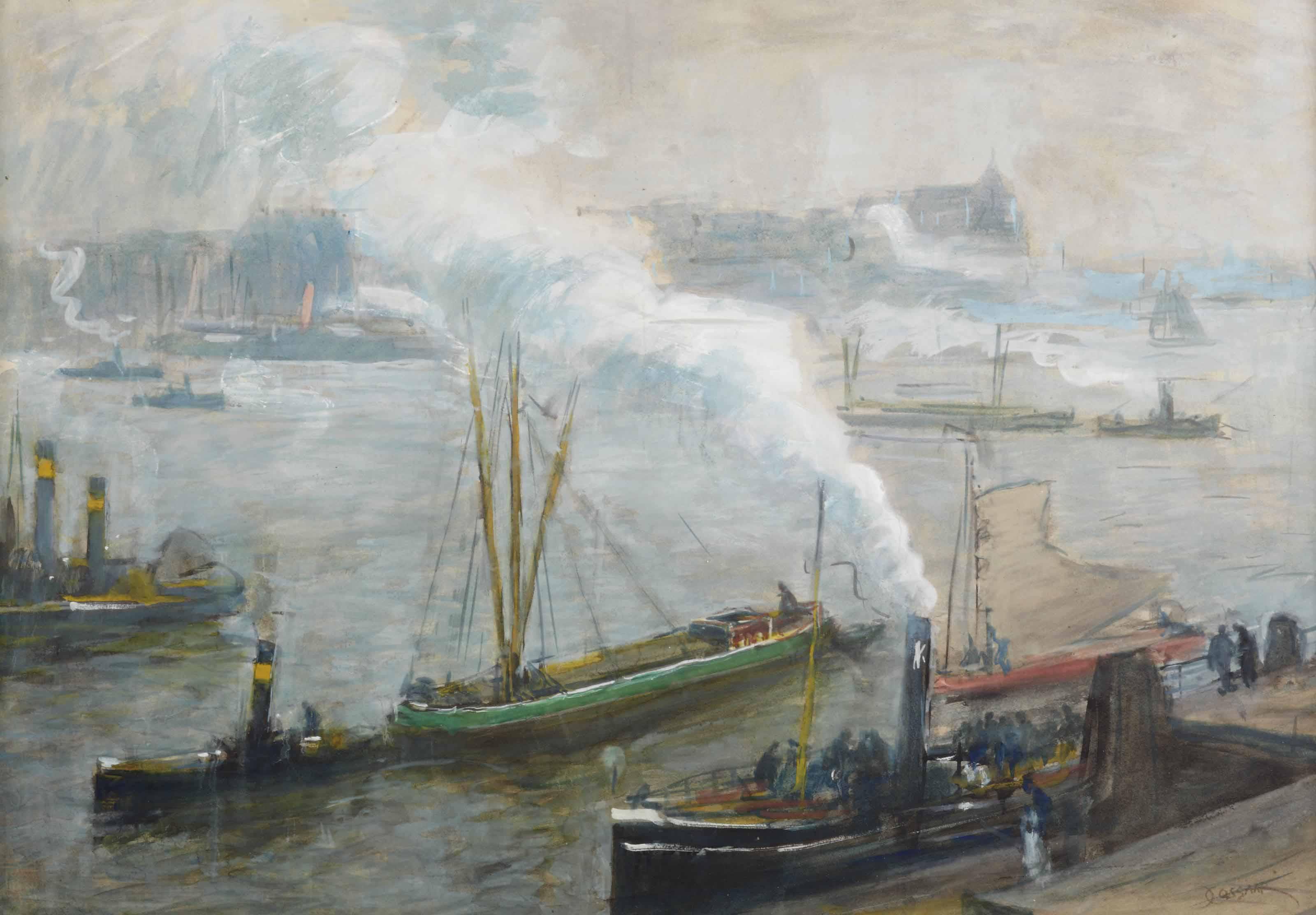 Activities in a harbour