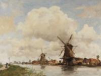 Aan de rivier: mills along a river