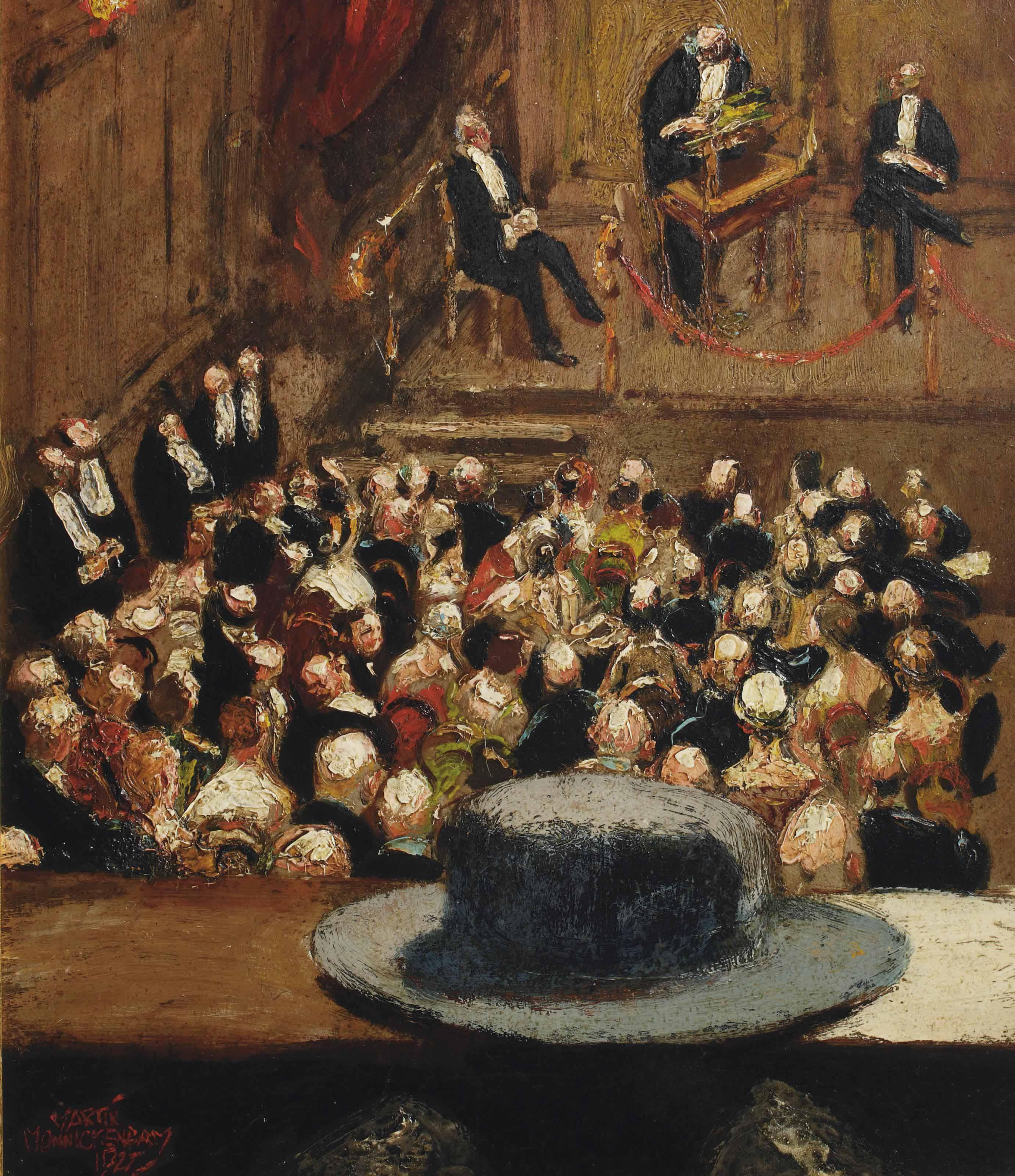 Lezing in het Koloniaal Museum, Haarlem; lecture