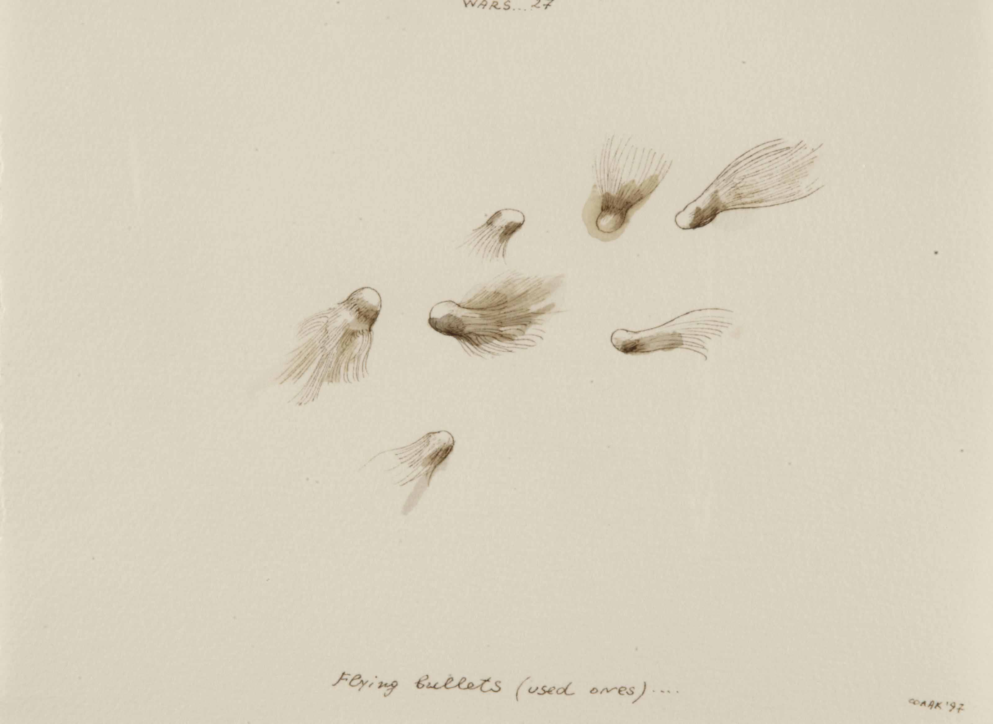 Wars....27 (flying bullets (used ones)....) (lower right)