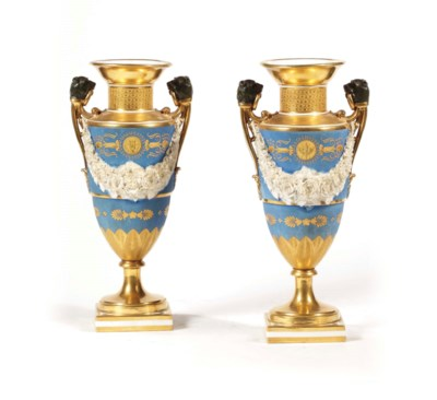 A PAIR OF FRENCH TWO-HANDLED G