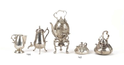 A Dutch silver miniature coffe