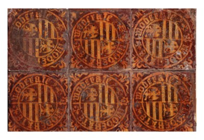 A French tile panel