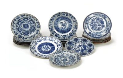 A collection of Chinese blue a