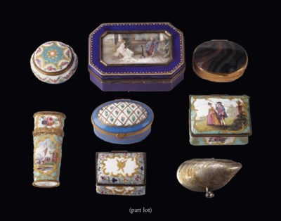 A Collection of various snuff-