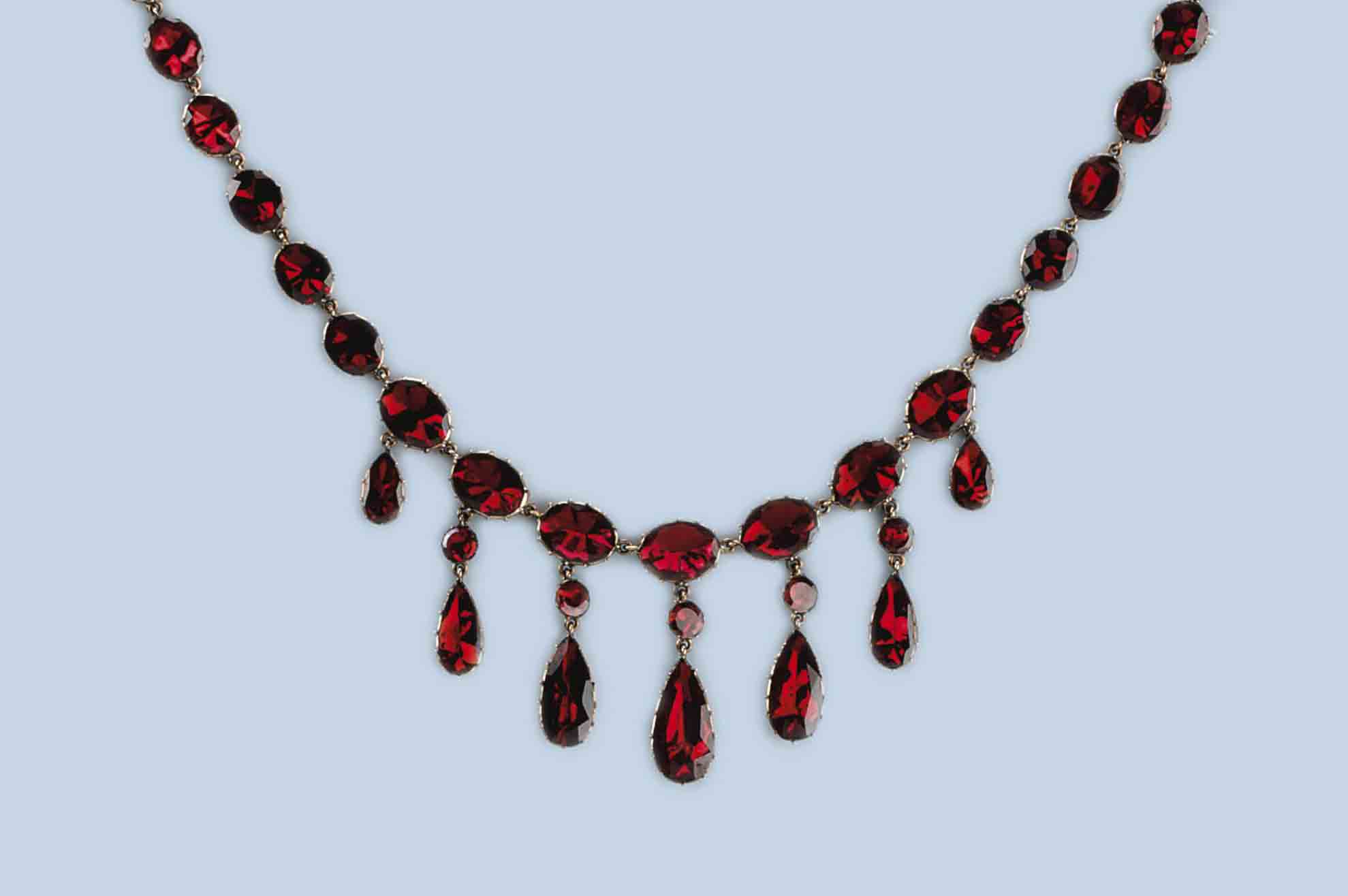 earrings necklace set pendant l silver red collections sterling shape garnet heart jewellery afromystique ct