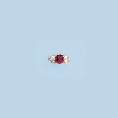 A RUBY AND DIAMOND RING, BY A.