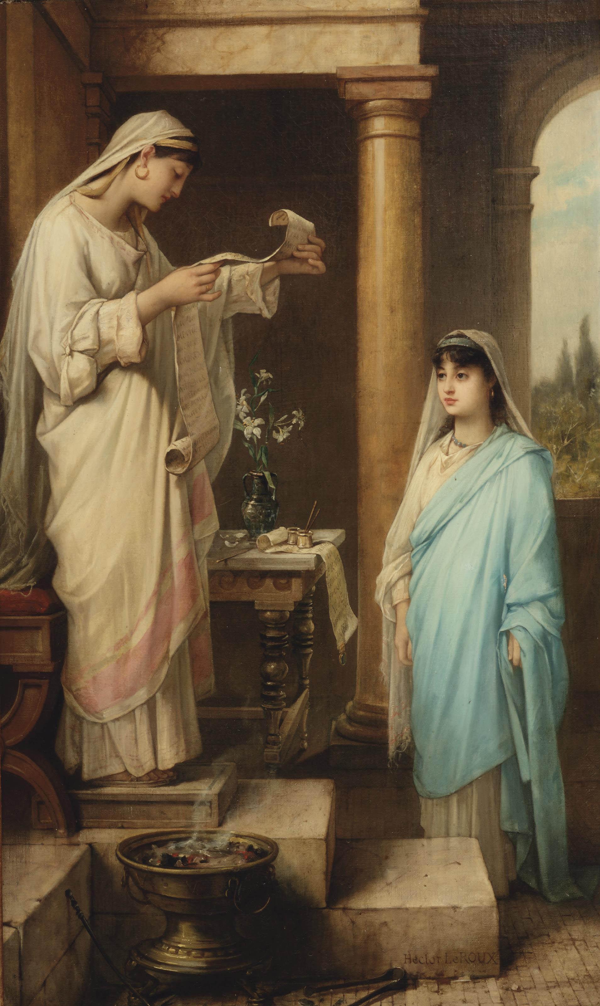 Inauguration of a Vestal Virgin