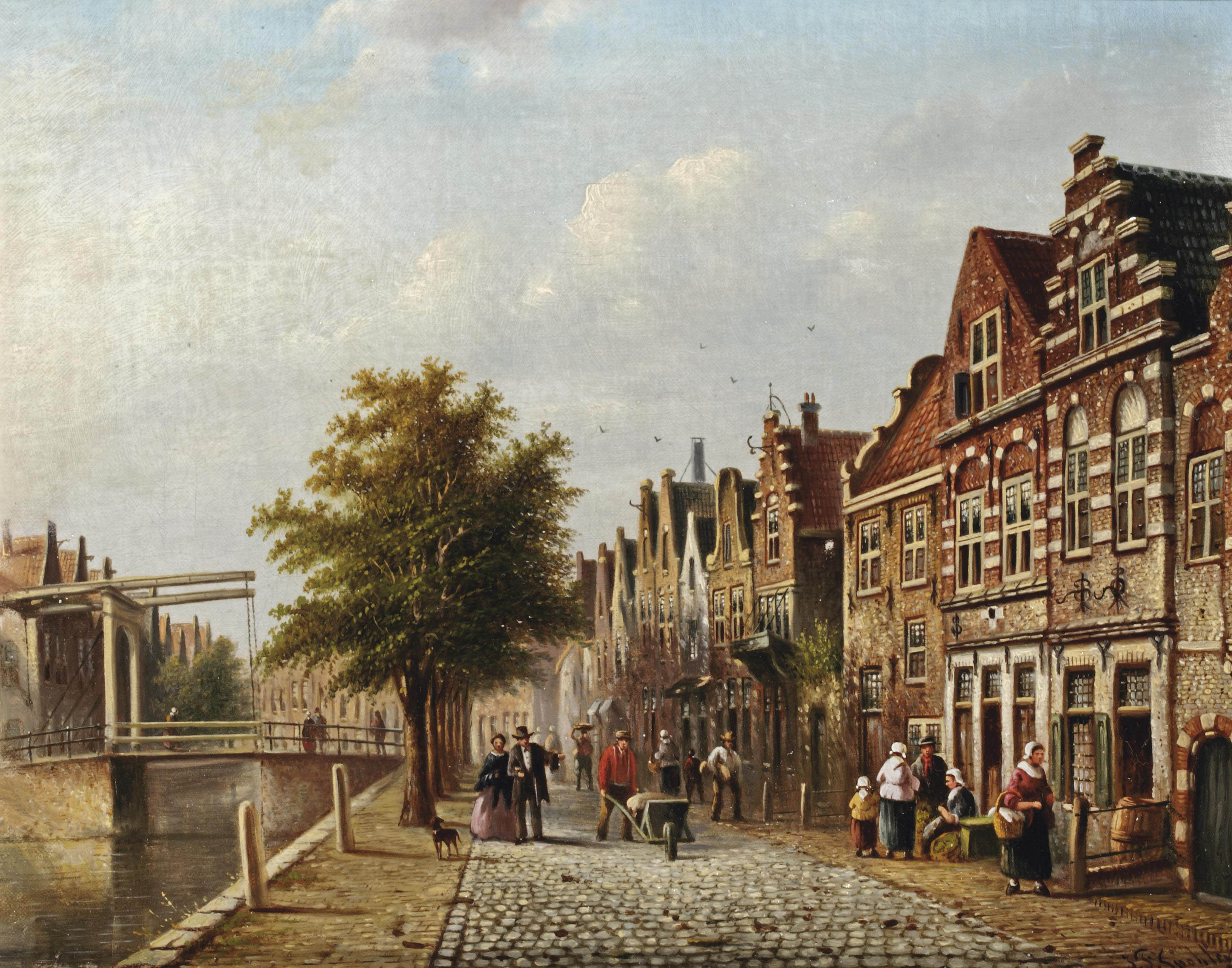 A view of a Dutch town during summer
