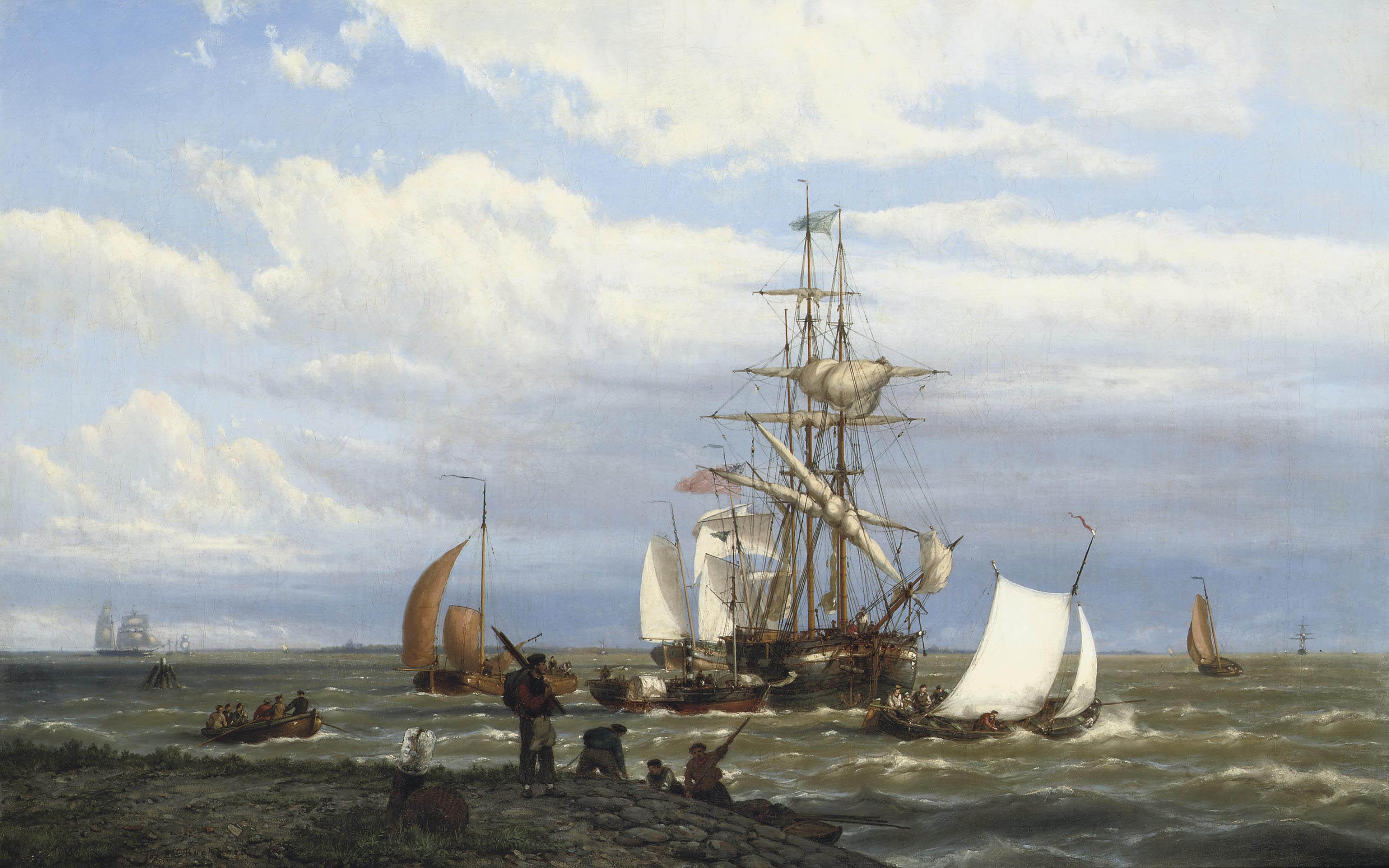 A busy estuary