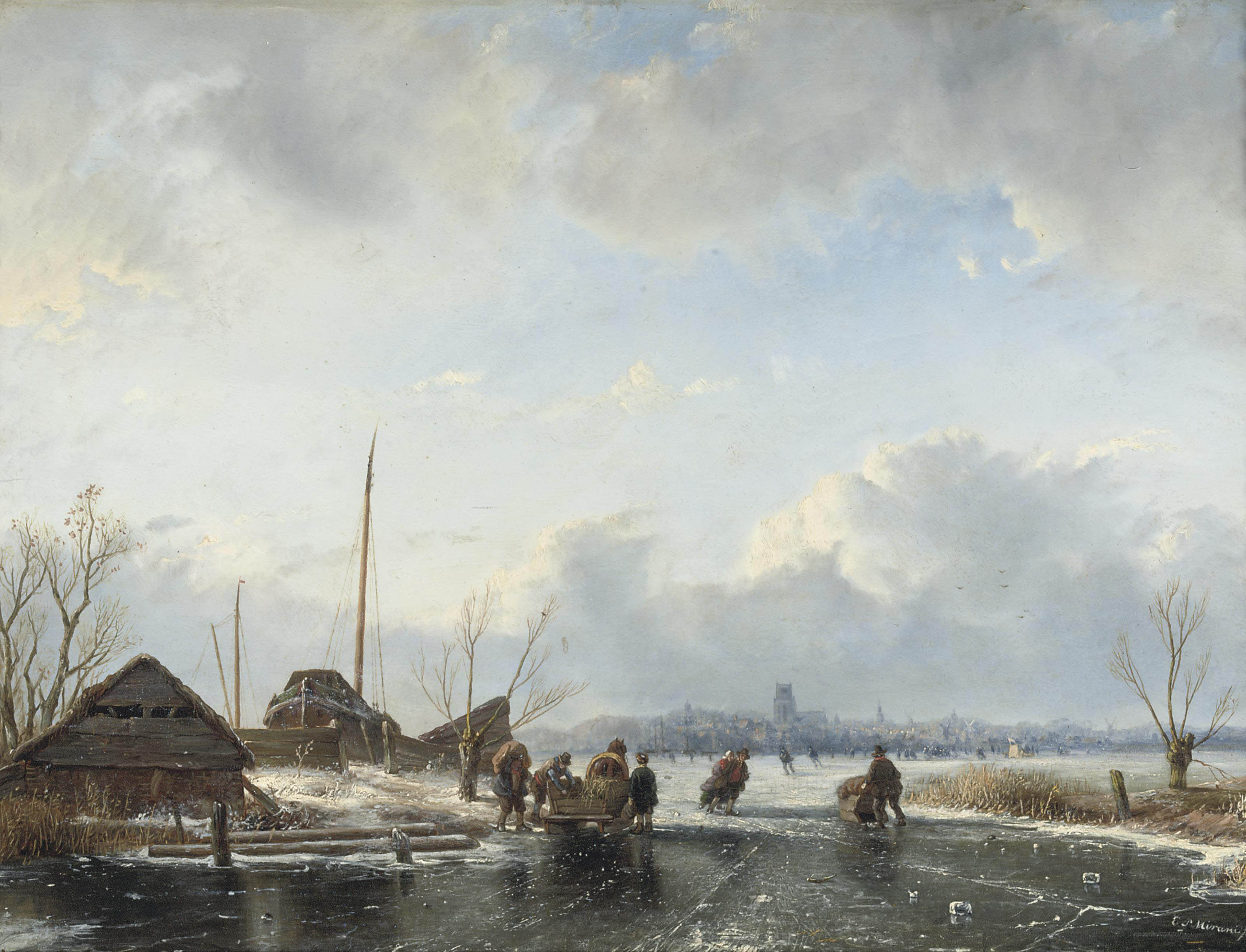 Skating on the ice near Dordrecht