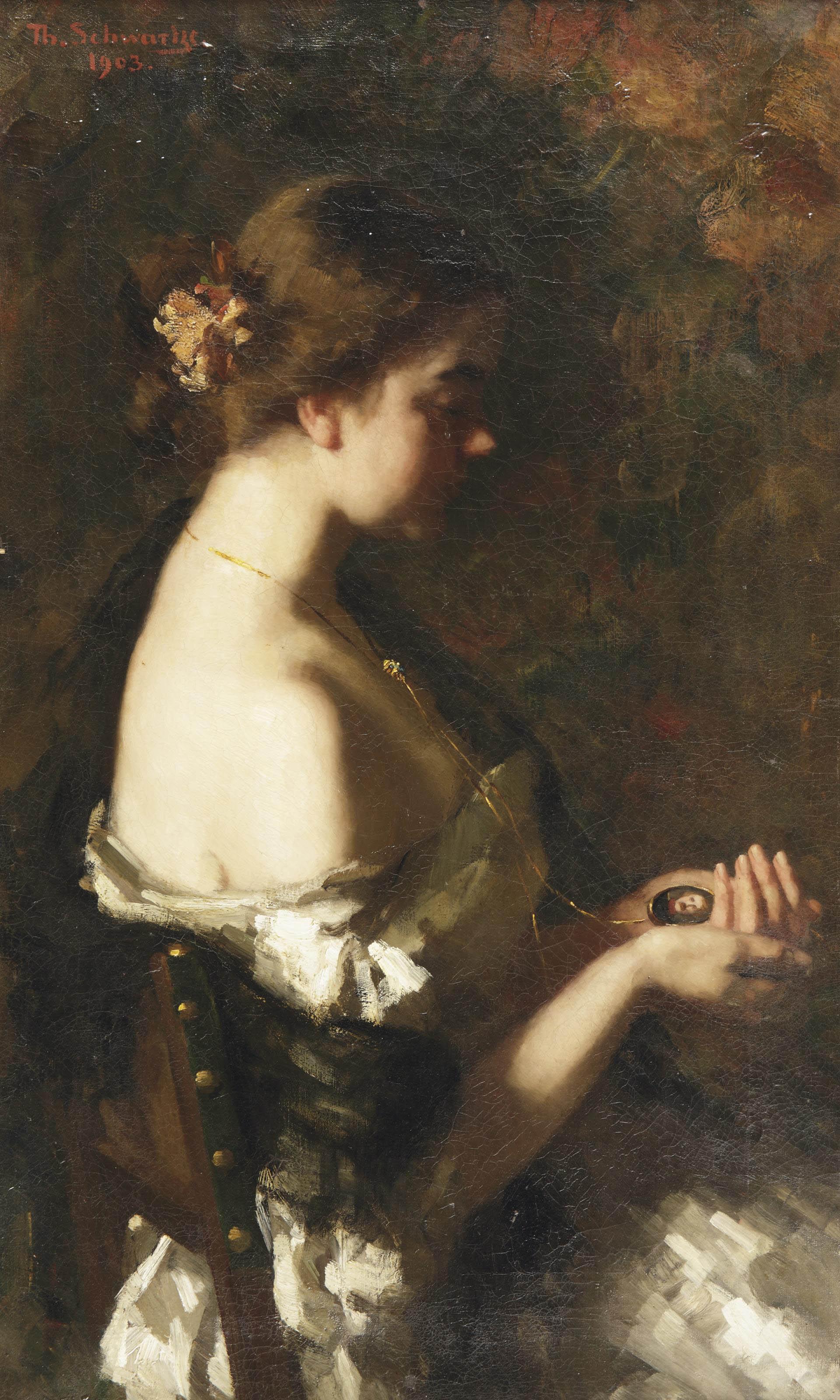 Verloren; girl with a medallion