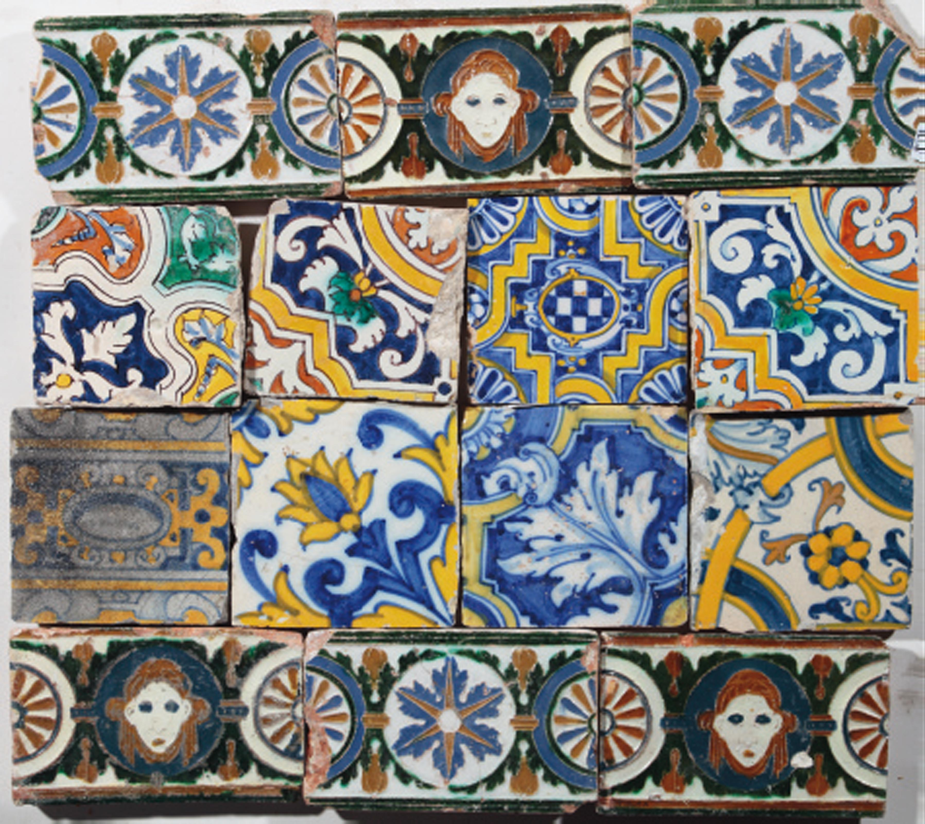 Nineteen various Spanish tiles | MAINLY 16TH 17TH CENTURY | All ...