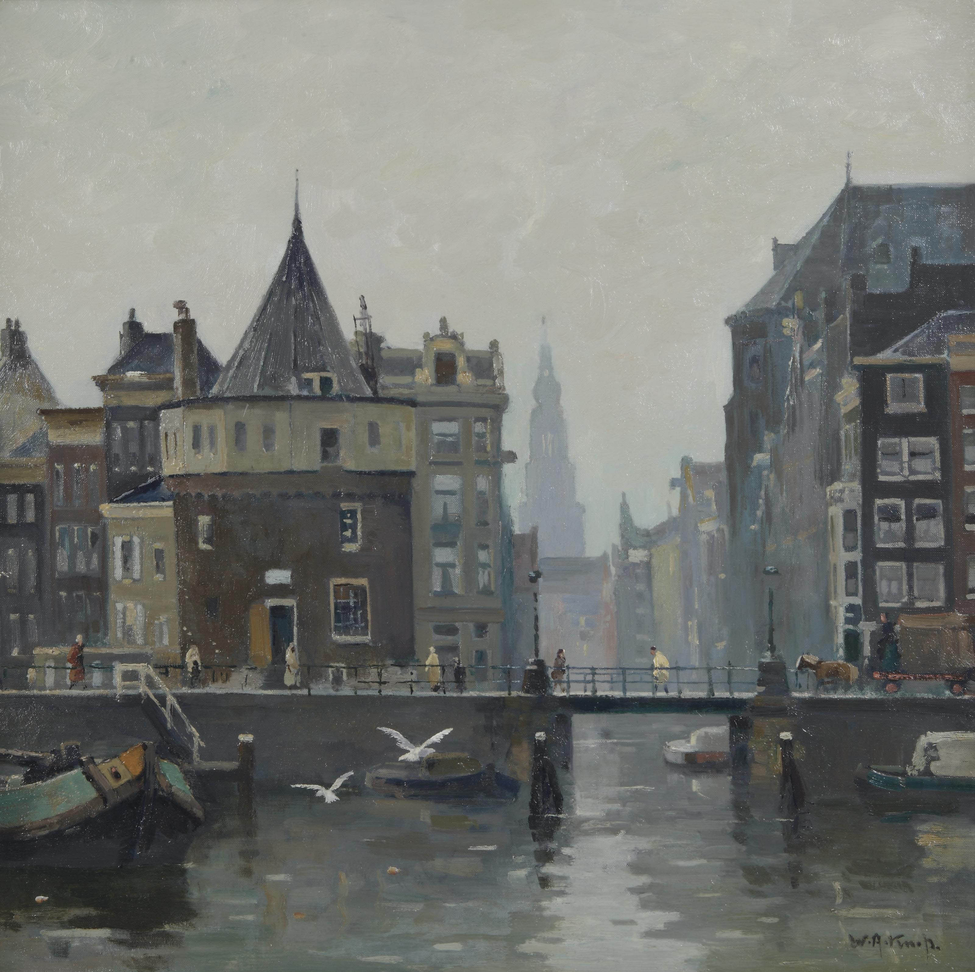 A view of the Schreierstoren, Amsterdam
