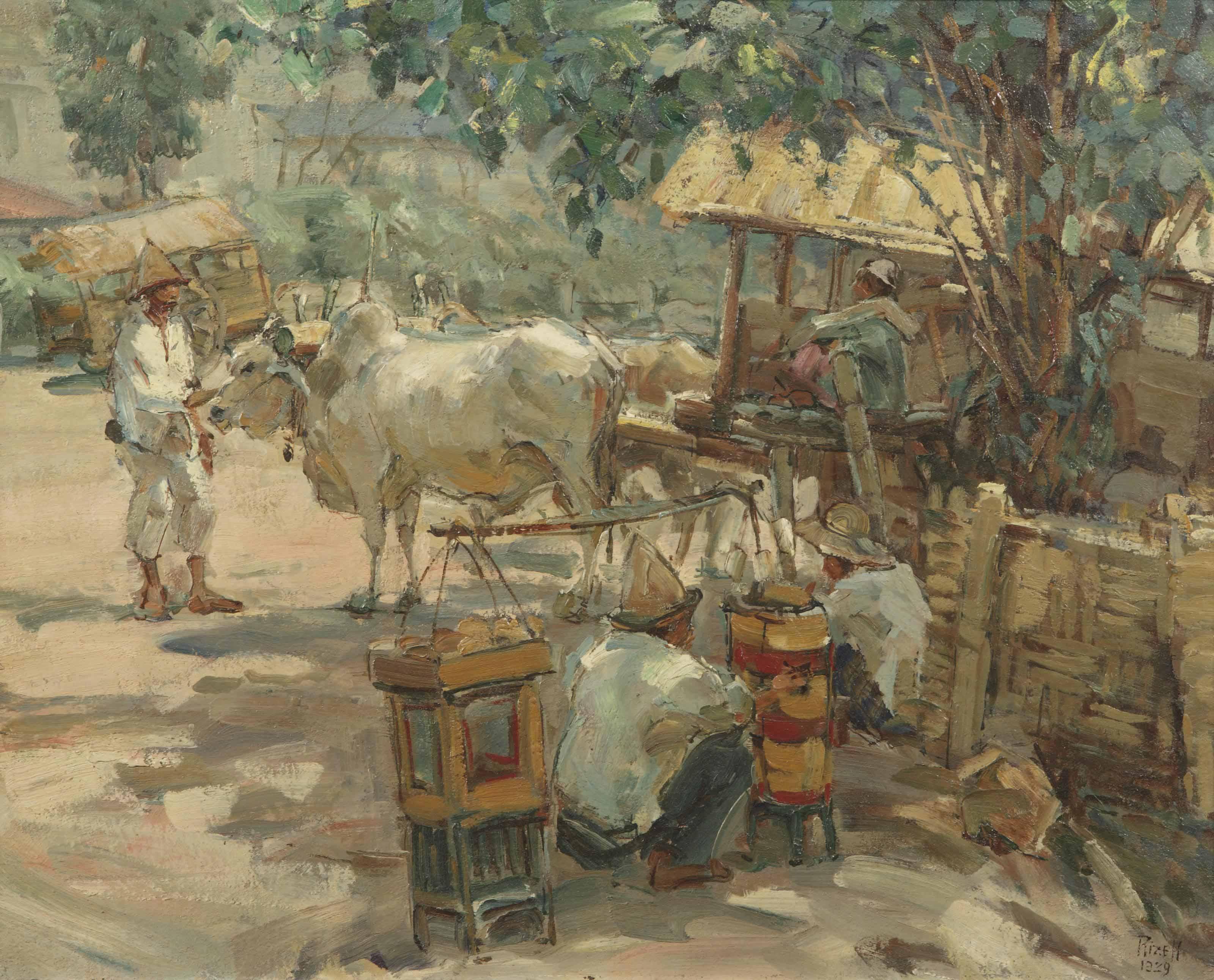 At the pasar