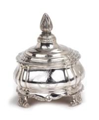 A Dutch silver tobacco box and cover
