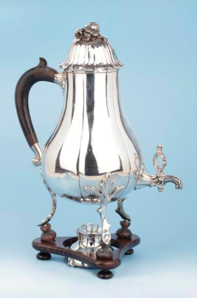 A Dutch silver coffee-urn and