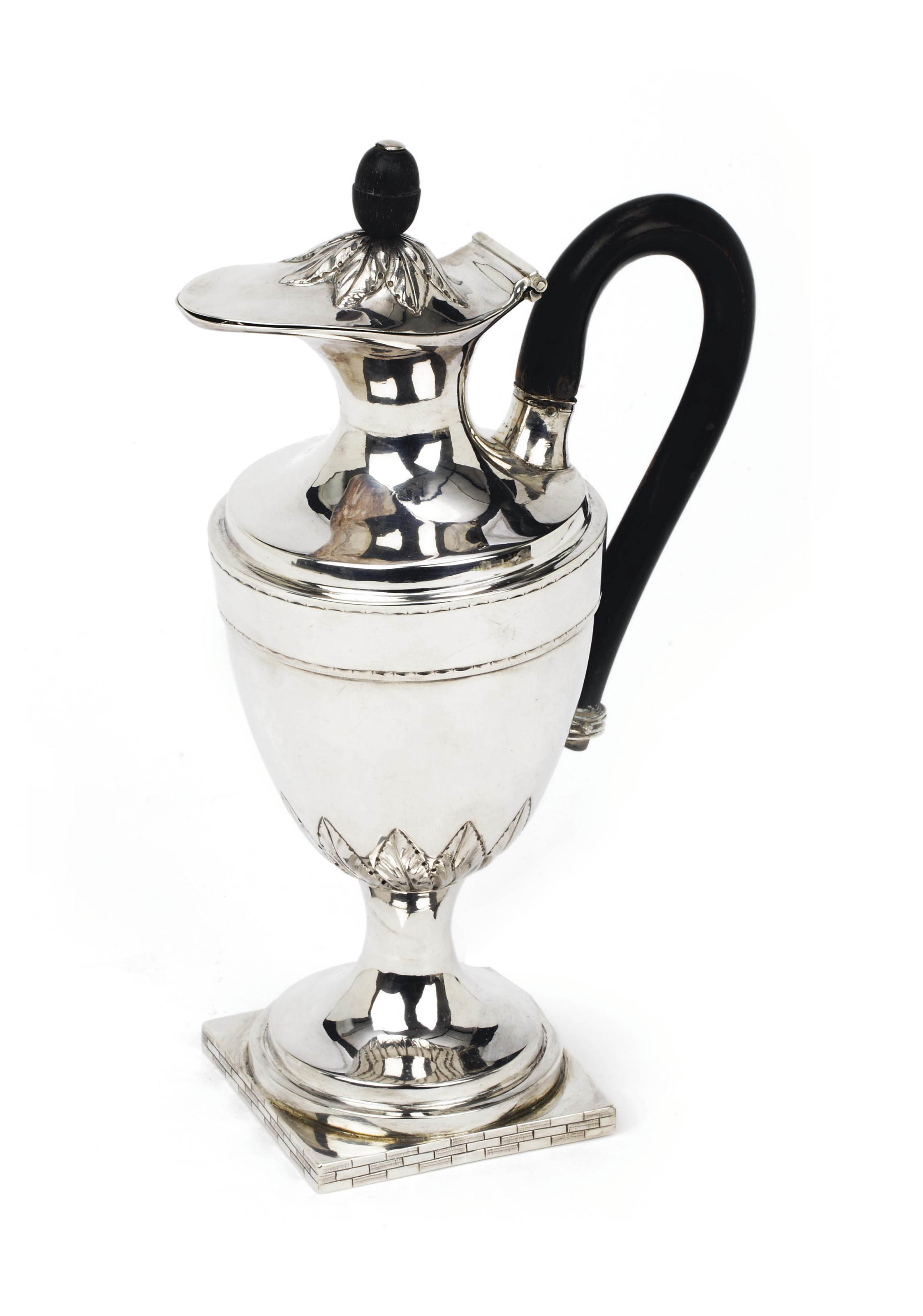 A Dutch silver ewer