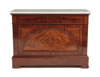 A Dutch mahogany sideboard