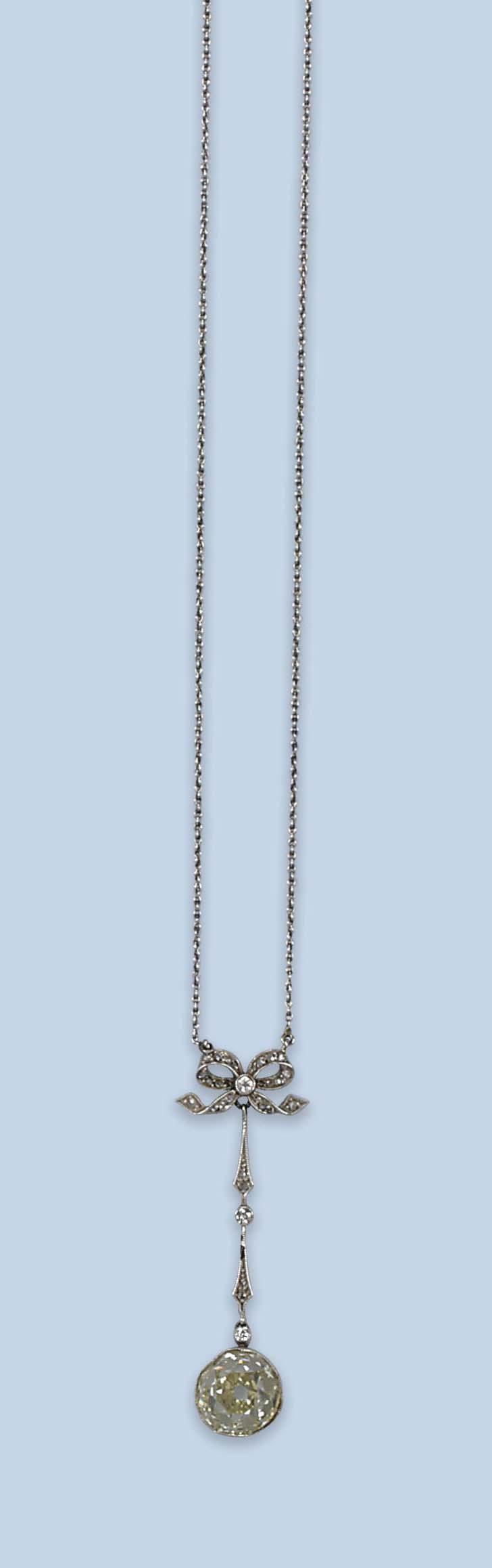 A BELLE EPOQUE DIAMOND NECKLACE, BY BONEBAKKER