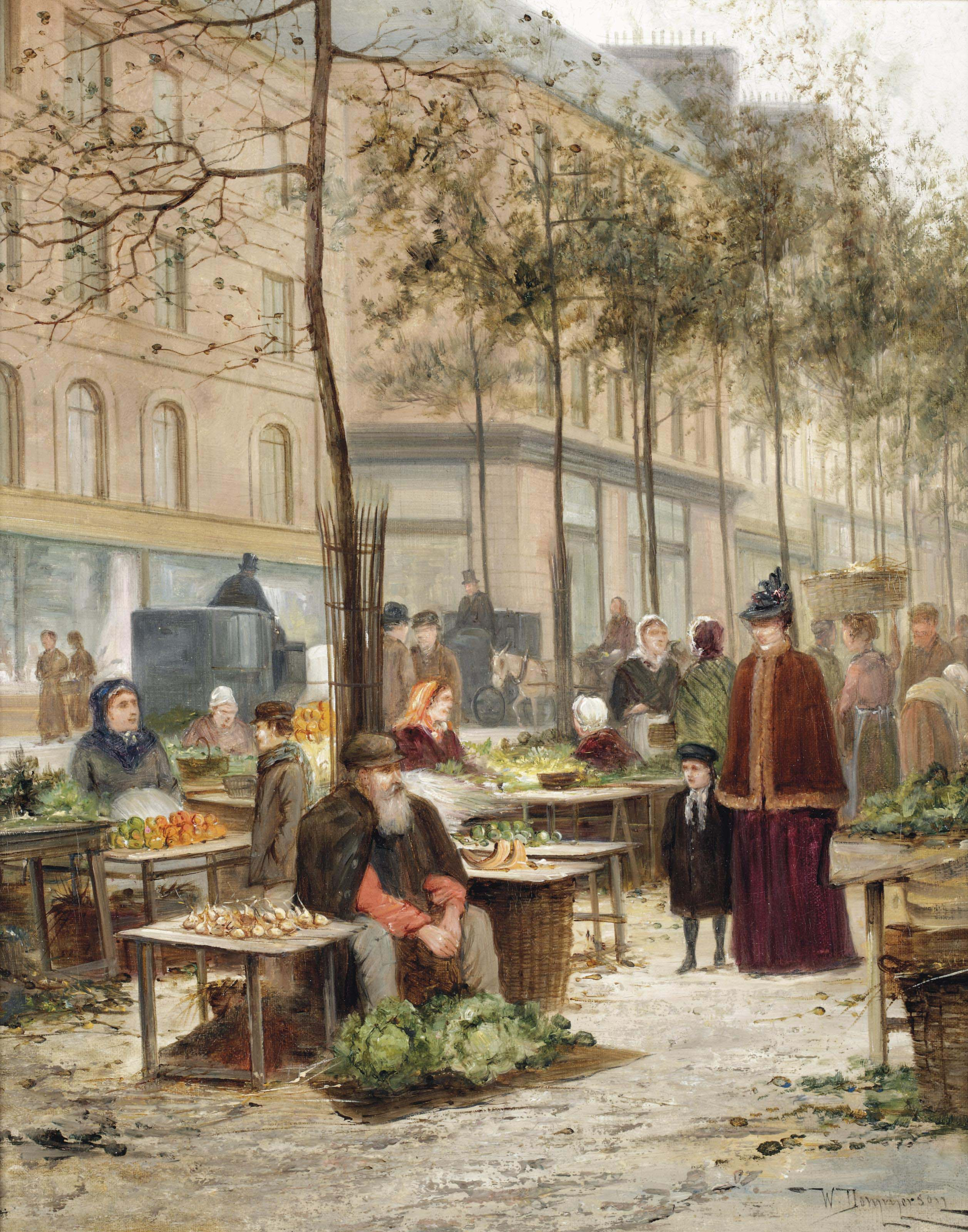 Marketday on Place des Halles, Paris