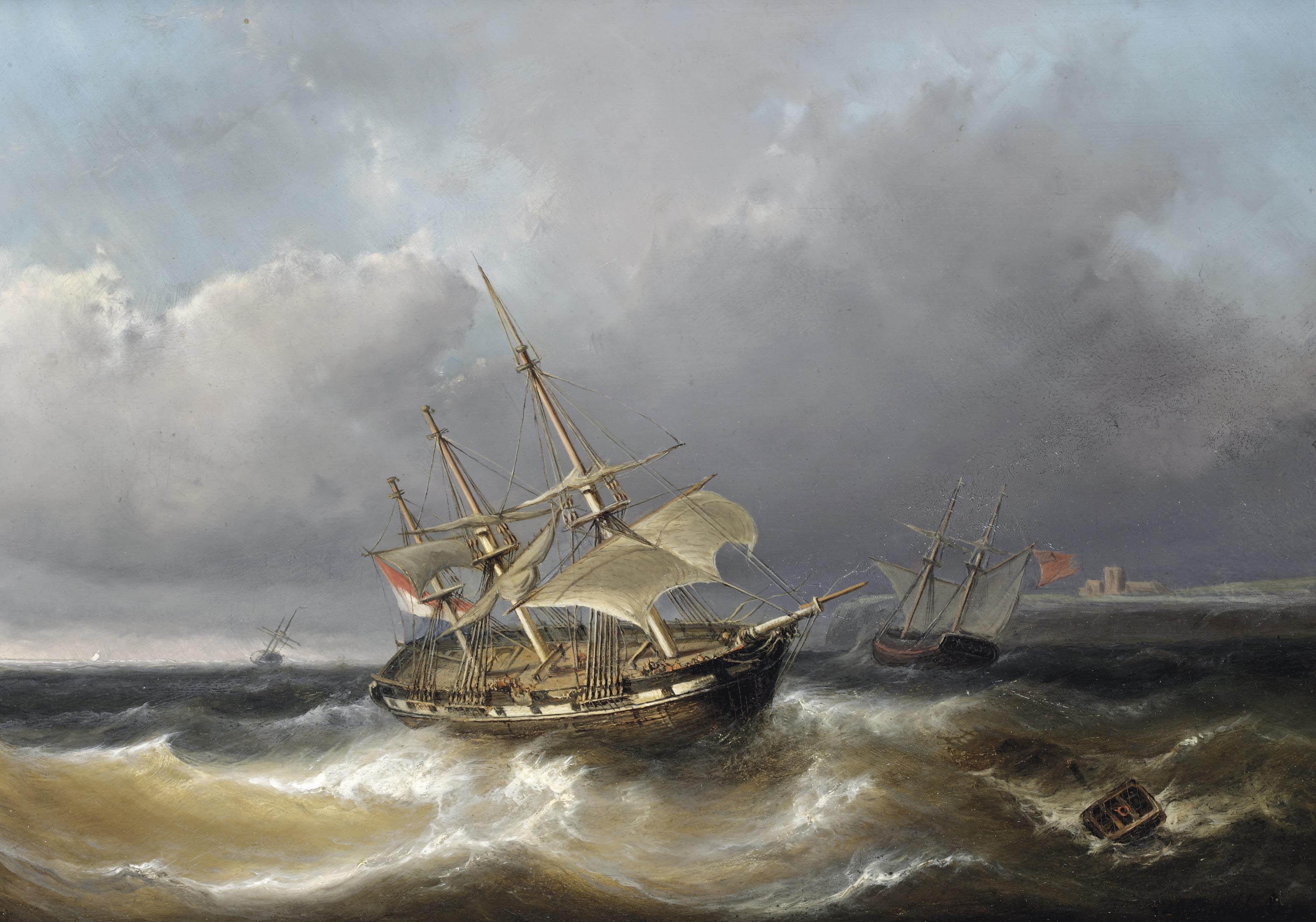 Caught in rough seas