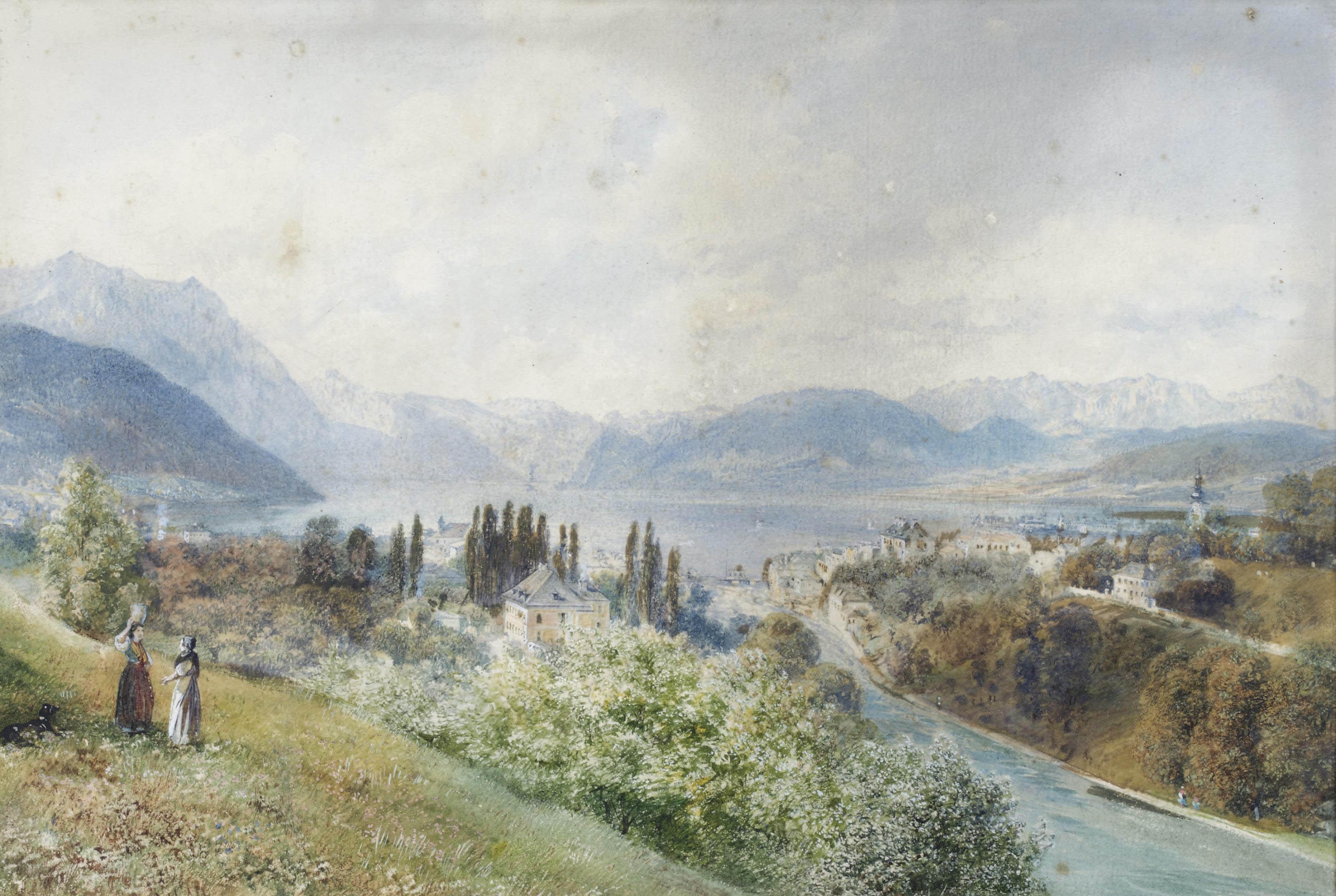 A view of Gmunden, Austria