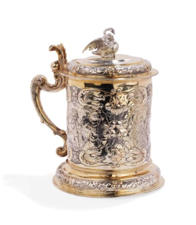 A German parcel-gilt silver ta