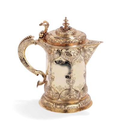 A German silver-gilt flagon