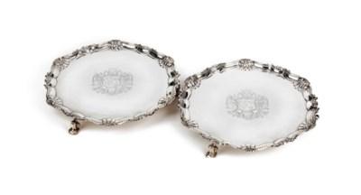 A pair of Irish George II silv