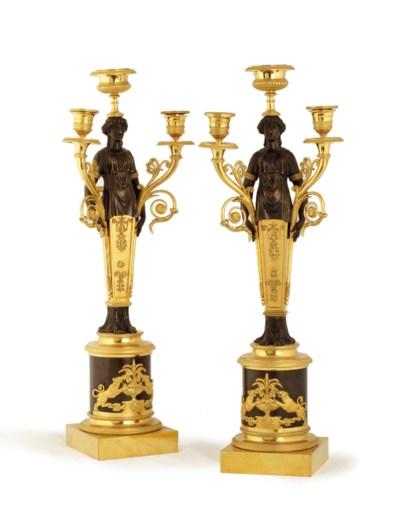 A pair of Empire three-light o