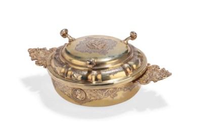 A German silver-gilt ecuelle a