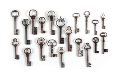 A COLLECTION OF IRON KEYS