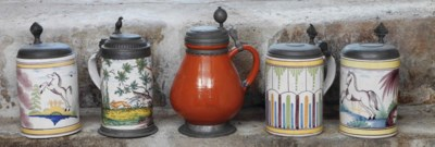 Five various German polychrome