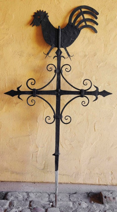 A FRENCH WROUGHT IRON WEATHER