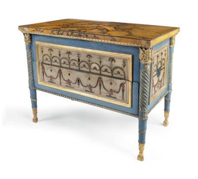 An Italian parcel-gilt and blu