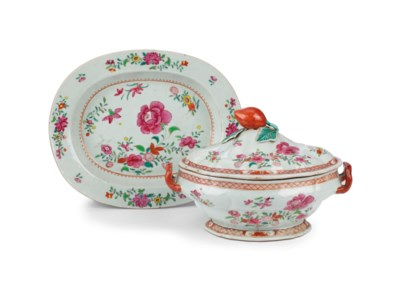 A Chinese famille rose tureen,
