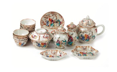 A Chinese famille rose tea-ser