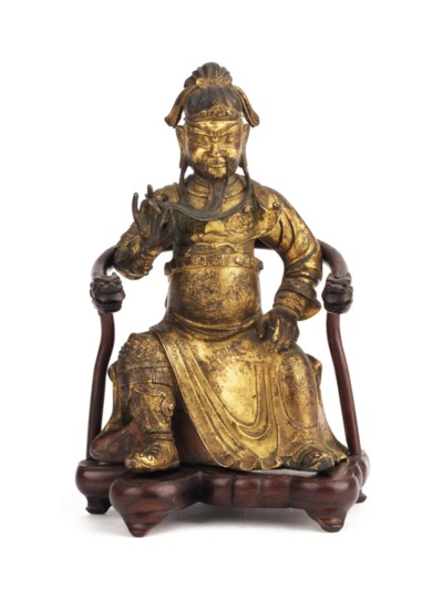 A Chinese late Ming gilt-bronz